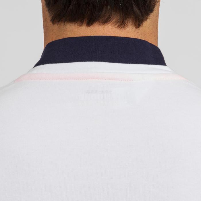 Zeilshirt met lange mouwen Sailing 100 voor heren wit