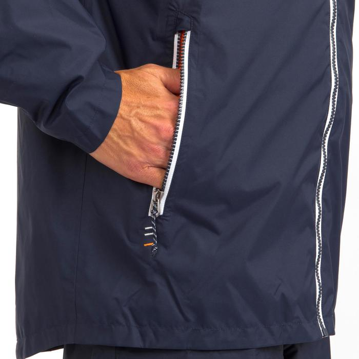 Segeljacke wasserdicht Sailing 100 Herren blau/orange