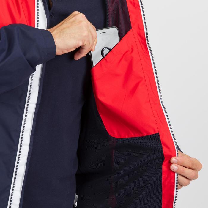 Segeljacke wasserdicht Sailing 100 Herren blau/rot
