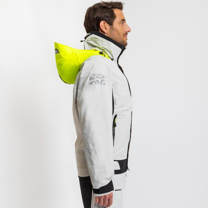 Segeljacke Blouson Race 500 Herren grau/gelb