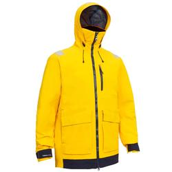 Sailing 500 Men's Waterproof Sailing Jacket - Yellow