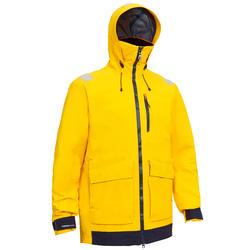 男款防水航海外套Sailing 500-黃色