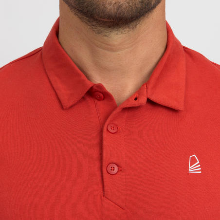 Sailing 100 Men's Sailing Short Sleeve Polo Shirt - Red