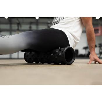 Rodillo Masaje Cross Training Musculación Domyos Negro Foam Roller Ancho