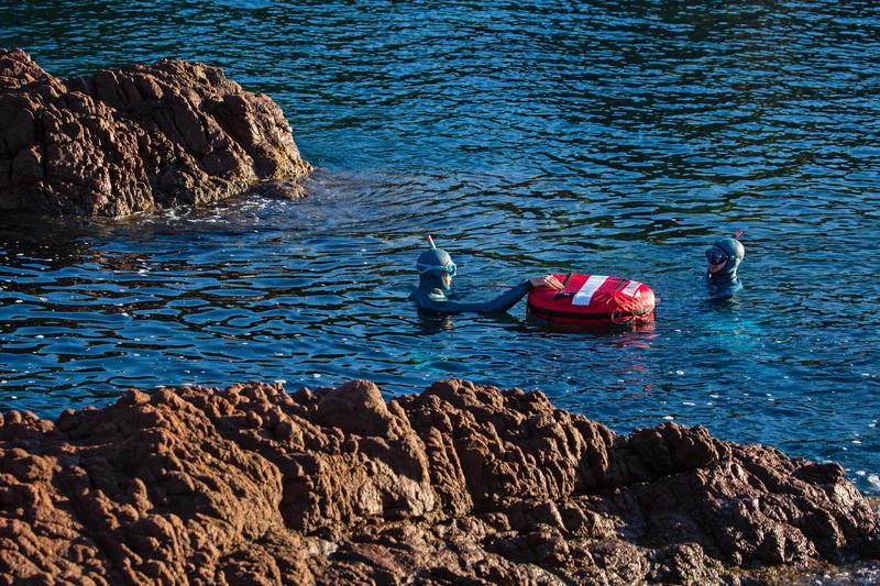 Tubo Apnea Pesca Submarina Subea FRD 500 Flexible Adulto Gris