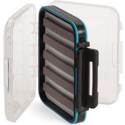 Doppelseitige, kompakte Köderbox für das Fliegenfischen mit Schaumstoffeinlage