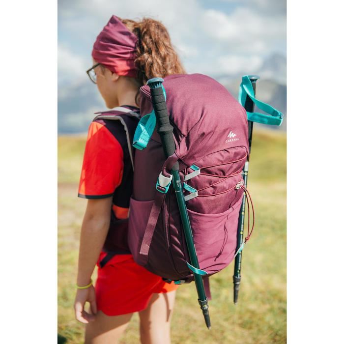 Mochila Montaña Senderismo Júnior Quechua MH500 Niños Violeta Ciruela 30L