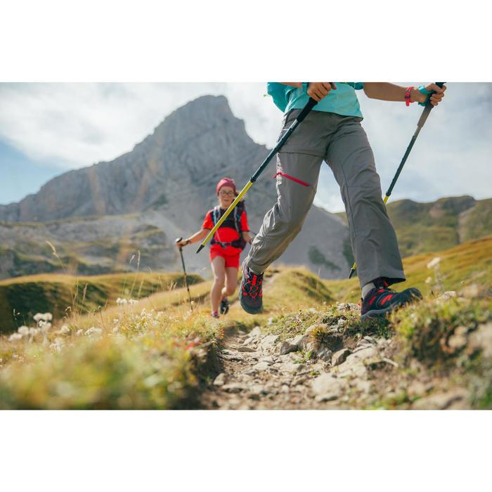 Pantalón Desmontable de Montaña y Trekking Quechua MH550 Niños Gris