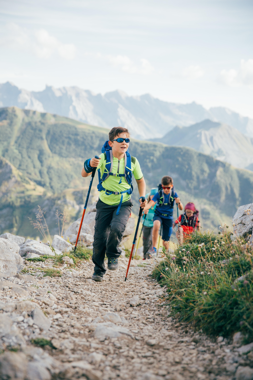 Kid's Hiking Sunglasses MHT500 Category 3 (Polarised) - Blue
