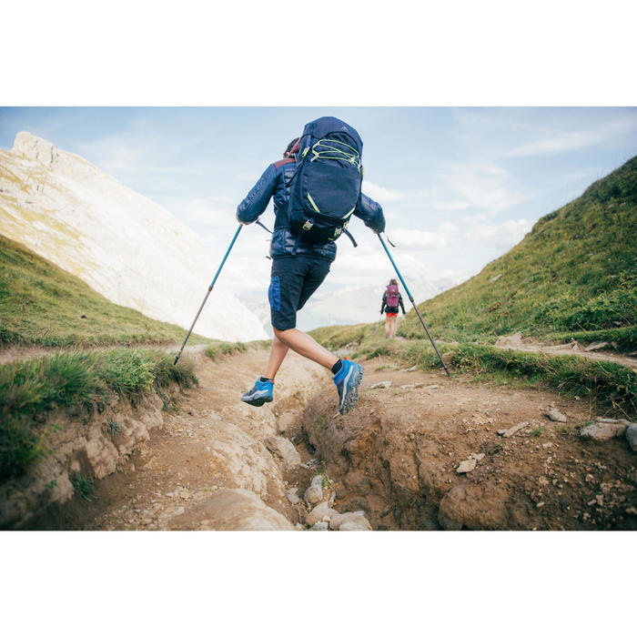 Lage bergwandelschoenen met veters voor jongens Crossrock geel