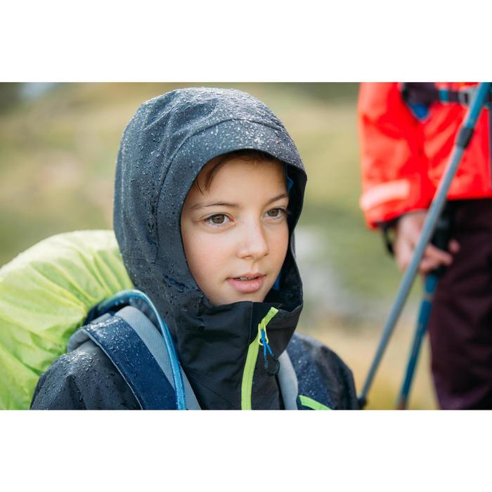 Kids Waterproof Hiking Jacket - MH550 - Grey