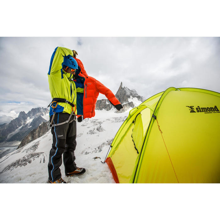 Abrigo Chaqueta Plumón Alpinismo SIMOND Makalu II Aislamiento Hombre Rojo