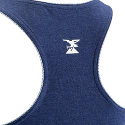 女款攀岩用伸縮背心-藍色