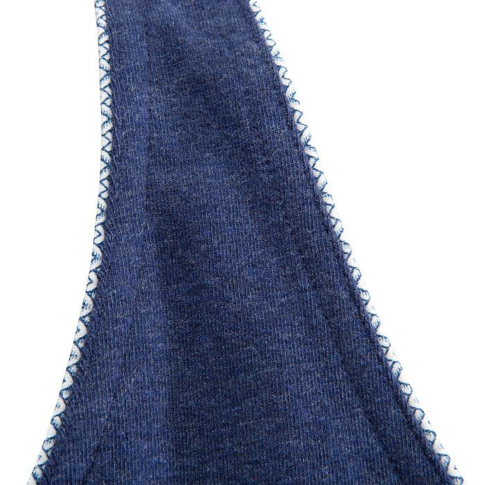 Damestop voor klimmen stretch blauw