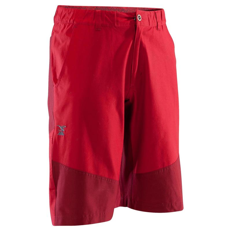 MEN'S STRETCH CLIMBING SHORTS VERTIKA - GRANITE RED