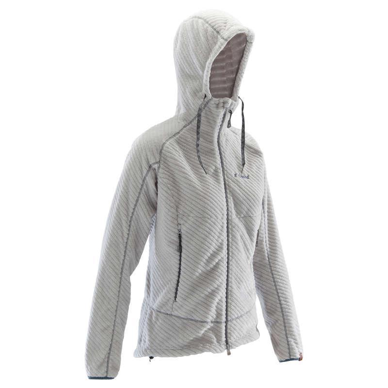 Kletterbekleidung Erwachsene - Sweatshirt warm Damen grau  SIMOND