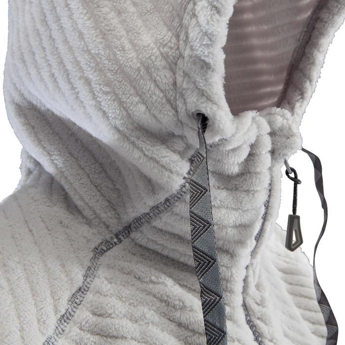 Kletter-Sweatshirt warm mit Kapuze Damen grau