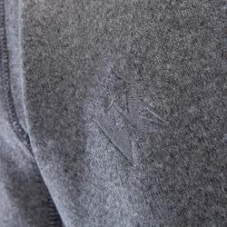 Klettersweatshirt mit Kapuze warm Herren zinkgrau