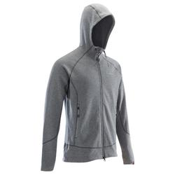 MEN'S WARM HOODED CLIMBING JUMPER ZINC GREY