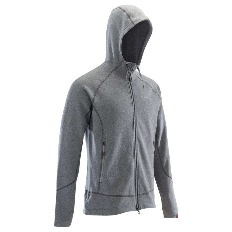 CLIMBING CLOTHING - MEN'S WARM JUMPER GREY SIMOND