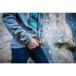 Warme heren hoodie voor klimmen zinkgrijs