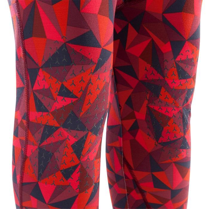Kletter-Leggings Damen rot granatapfel