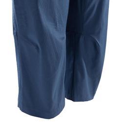 Driekwartbroek voor klimmen dames stretch blauw
