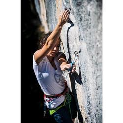 Dames T-shirt Comfort met korte mouwen voor klimmen gletsjerwit
