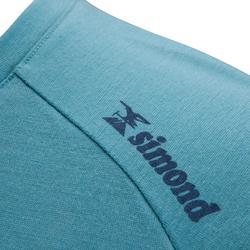 Klim-T-shirt voor heren merinowol blauw grijs