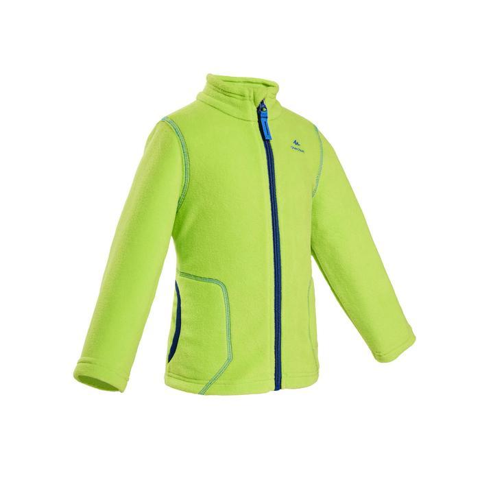 兒童款健行刷毛外套MH500-綠色