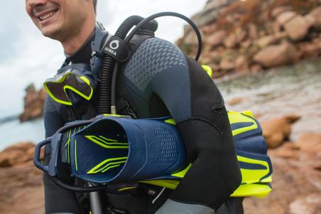 Tali pengikat sepatu katak dapat disesuaikan SCD, menyelam scuba (berpasangan)