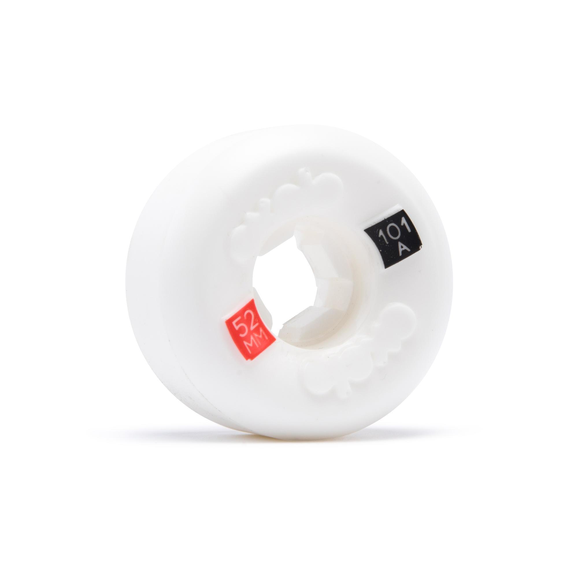 Oxelo Set van 4 skateboardwielen 52 mm 101A wit conisch kopen