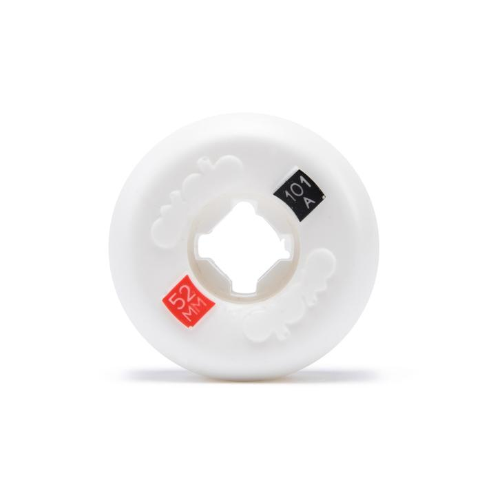 Set van 4 skateboardwielen 52 mm 101A wit conisch