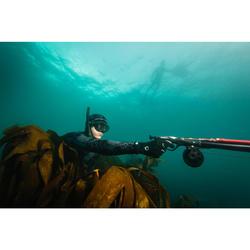 Pantalon chasse sous-marine camo déstructuré noir néoprène 5mm refendu SPF500
