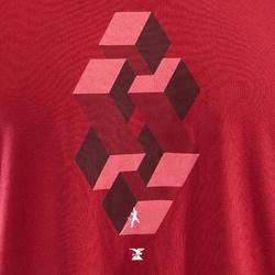 T-shirt voor klimmen heren Comfort bordeauxrood