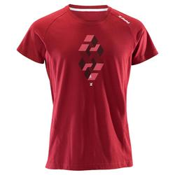 T-shirt voor klimmen heren Comfort bordeauxrood