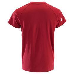 Heren T-shirt Comfort met korte mouwen voor klimmen bordeaux