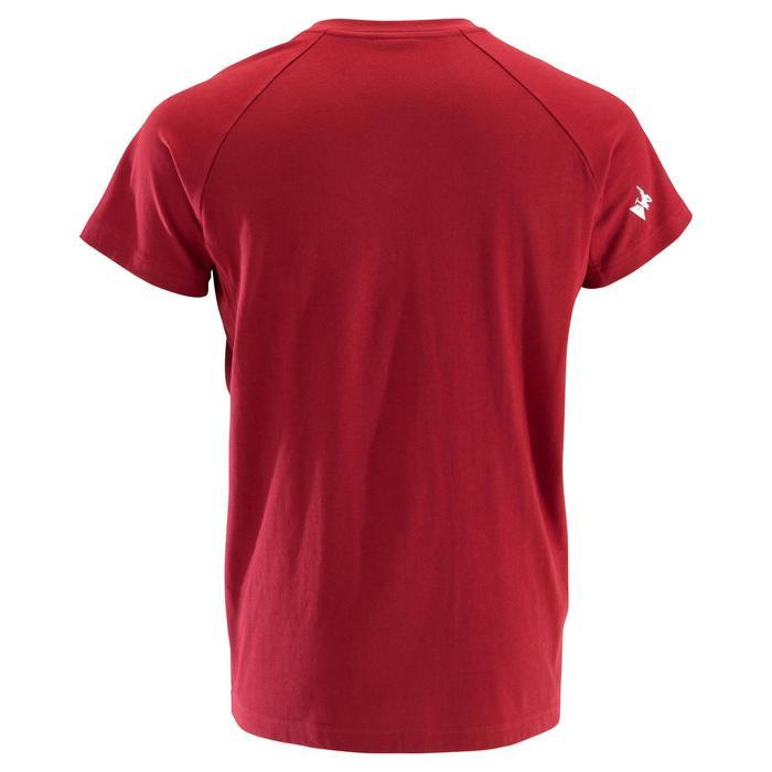 Kletter-T-Shirt Komfort kurzarm Herren rot