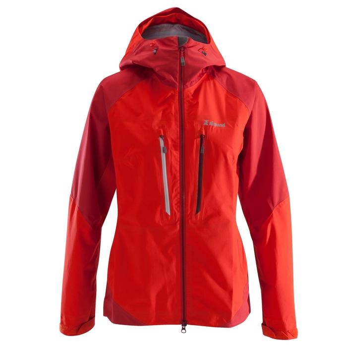 Veste imperméable d'alpinisme FEMME - ALPINISM LIGHT Rouge