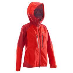 Chaqueta Impermeable de Alpinismo Alta Montaña Mujer SImond Alpinism Light Rojo