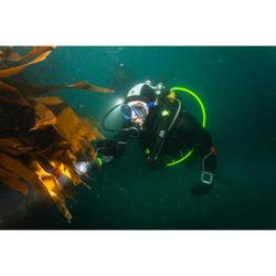 Flexible octopus de plongée sous-marine Hyperflex tressé SCD jaune fluo