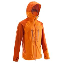 Men's Mountaineering Waterproof Jacket - Alpinism Light Orange