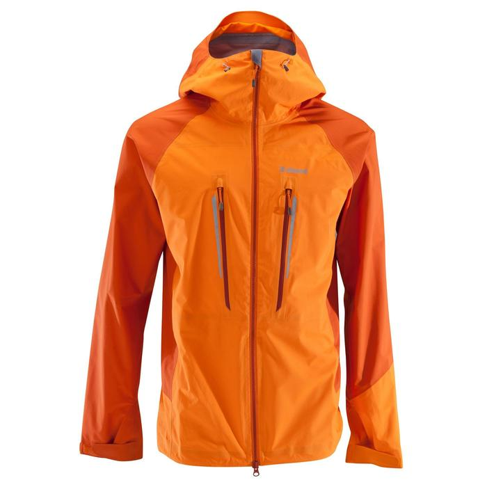Waterdichte jas voor heren - ALPINISM LIGHT oranje