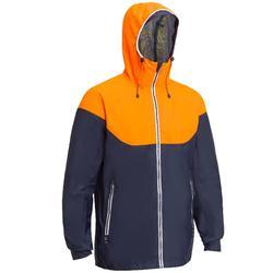 Chaqueta impermeable de vela SAILING 100 hombre azul naranja