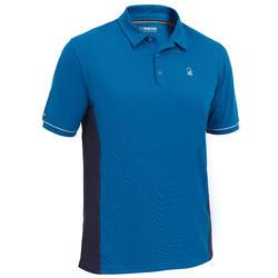 Camiseta Manga Corta Marinera Barco Vela Tribord 100 Hombre Azul Protección UVA