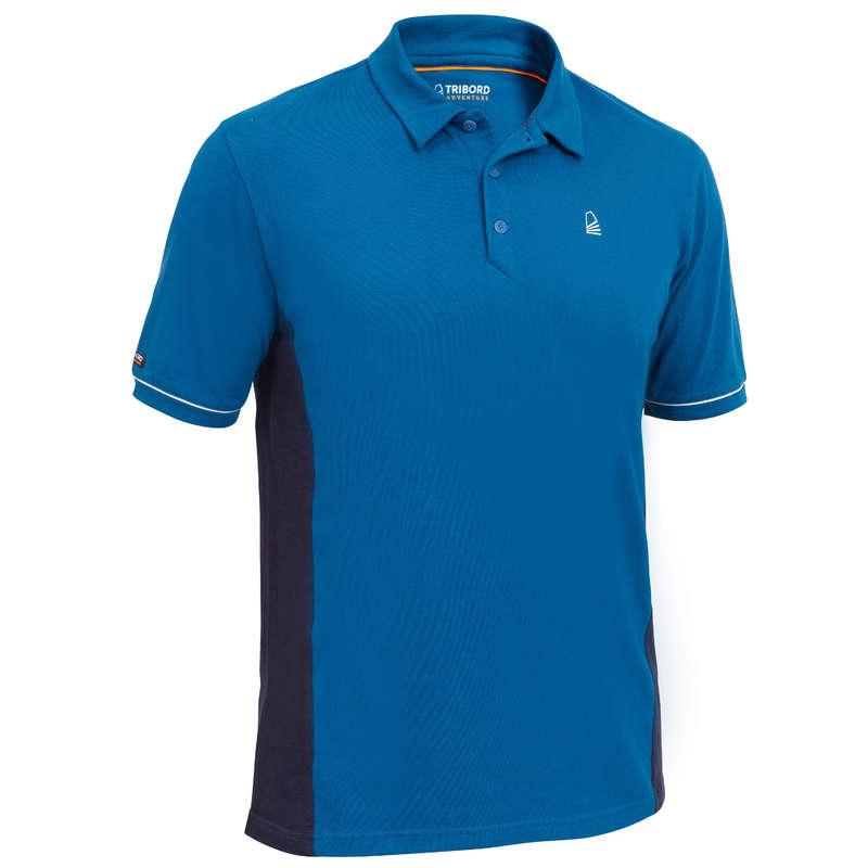 CRUISING WARM WEATHER MAN CLOTHES Sailing - Sailing 100 M SS Polo - Blue TRIBORD - Sailing Clothing