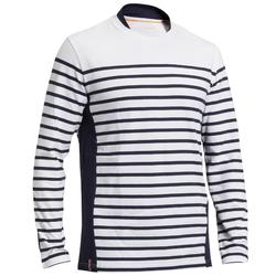 45811f9471431 Camiseta Manga Larga Vela Tribord Sailing 100 Algodón Marinera Hombre Blanco