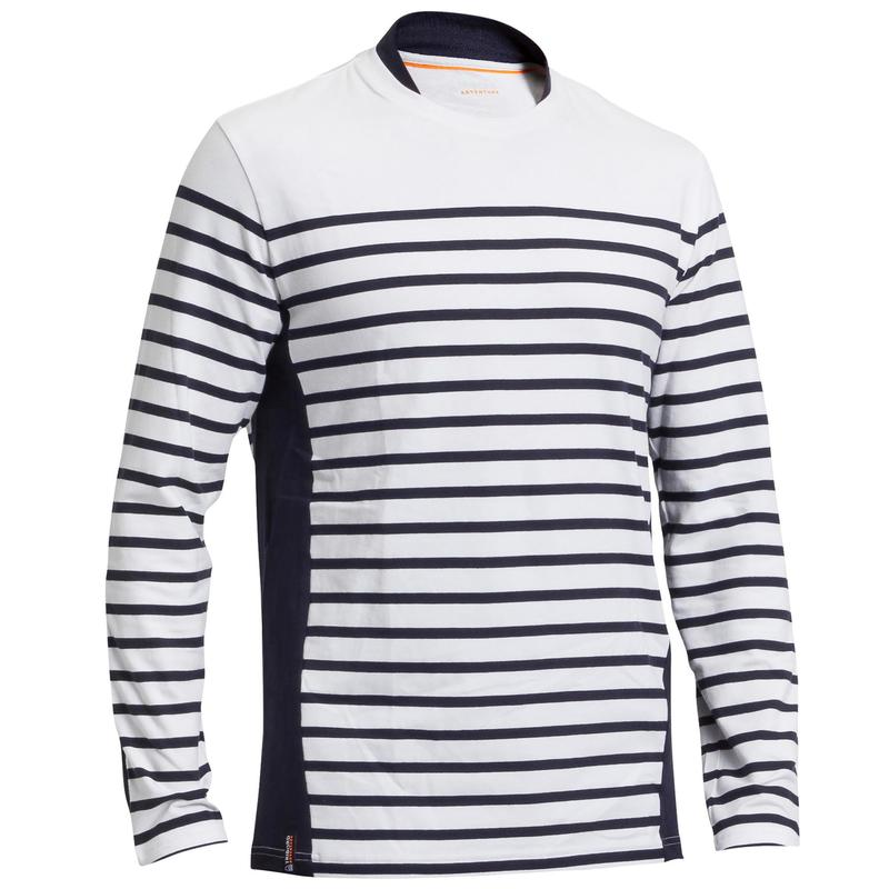 Men's Sailing Long Sleeve T-Shirt 100 - White