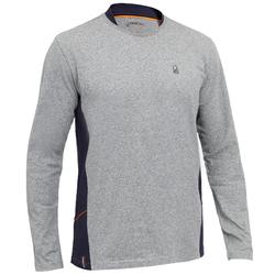 Men's Sailing Long Sleeve T-Shirt 100 - Grey