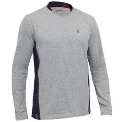 Sailing 100 Men's Long Sleeve Sailing T-Shirt - Grey